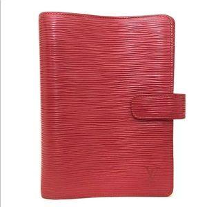 Louis Vuitton Epi Leather Agenda Medium +refills
